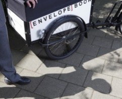EnvelopeBook Delivery Bike