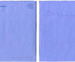 EnvelopeBook blij met blauwe enveloppen