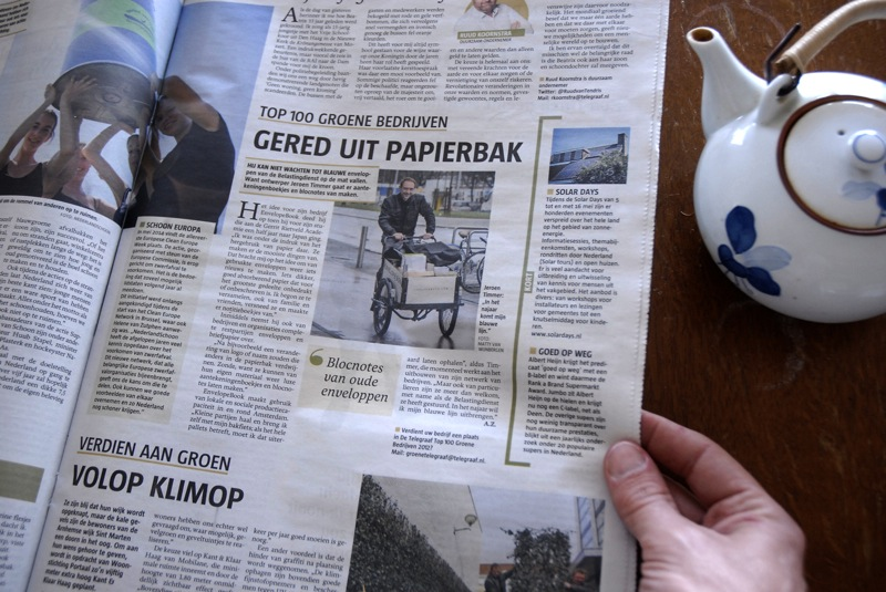 EnvelopeBook in de GroeneTelegraaf