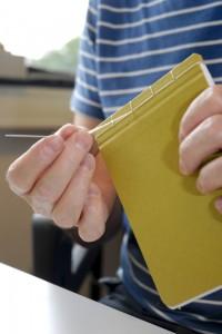 EnvelopeBook envelope book ambachtelijk handgemaakt Notitieboekje