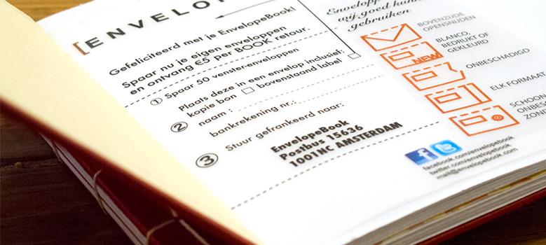 envelopebook spaar en recycle