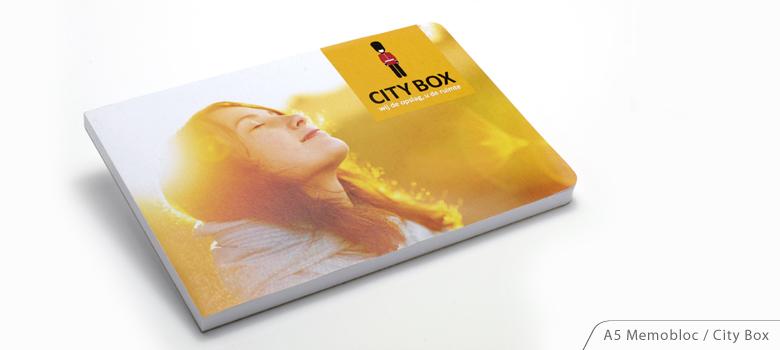 EnvelopeBook A5 Memobloc City Box Duurzame relatiegeschenken