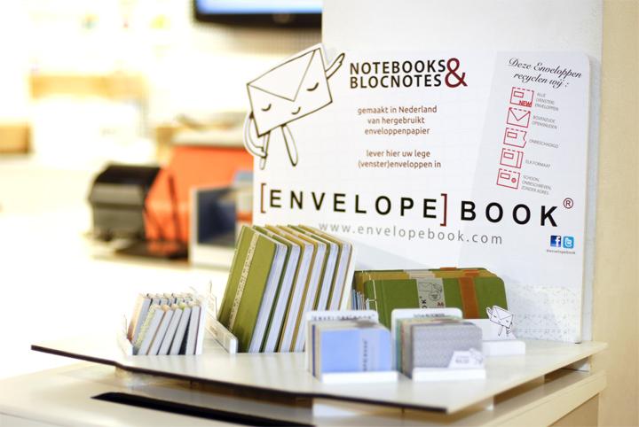 EnvelopeBook display bij PostNL Singel Amsterdam