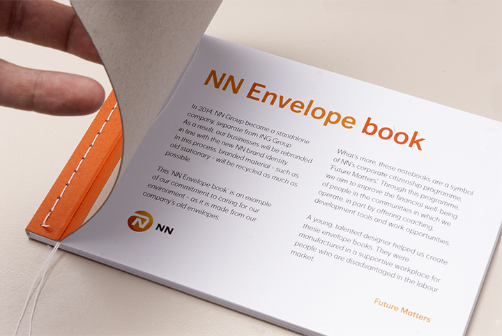 EnvelopeBook envelope book nationale nederlanden NN Group notebook